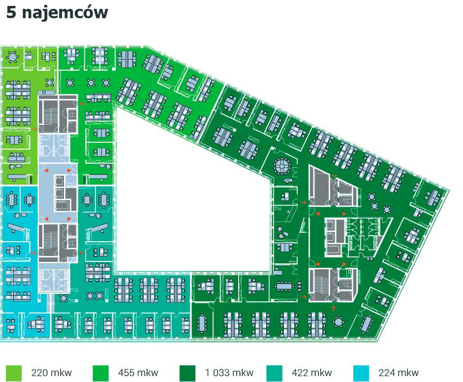 Park Rozwoju - Przykładowy plan - 5 najemców